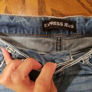 Express Shorts - Distressed denim Express short shorts